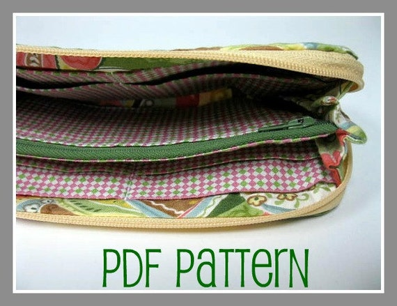 Swirl Clutch Wallet - PDF Pattern and Tutorial