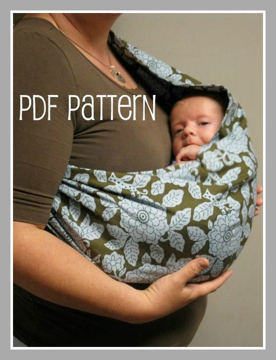 30 MINUTE Baby Sling PDF Pattern - Great beginner project