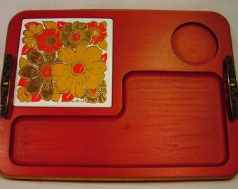 Vintage   70's Georges Briard Cheese Tray  Mid Century Mod