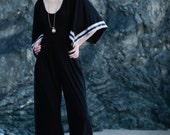 VERA - Black Jumper with Custom Trim Box Sleeves
