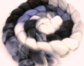 Frosty Night Roving - Baby Alpaca Combed Top - Spinning Fiber