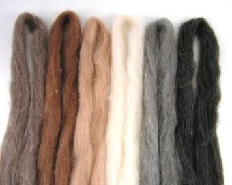 Alpaca Merino Roving - natural shades