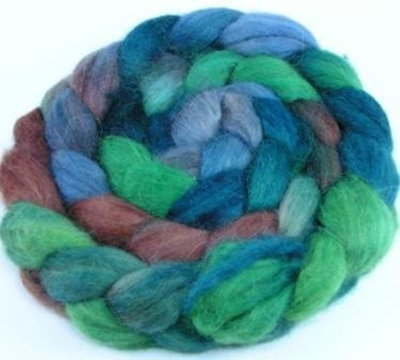 Spinning Fiber - Baby Alpaca Combed Top / Roving - Spruce Forest