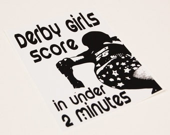 Derby Girls Score in Under 2 Minutes Sticker
