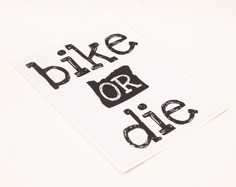 Bike or Die Oregon Sticker