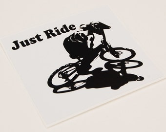 Just Ride Sticker