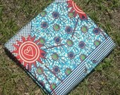 Fabric African Wax Cotton Print - Sunny Sankofa - 1 Yard
