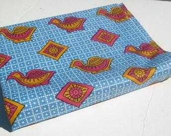 West African Soft Cotton Print Fabric - African Ankara Fabric - Diamond Fauna