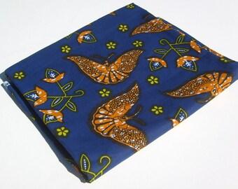 Ankara - African Print Fabric - Floral Moths - Fat Quarter