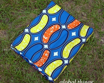 West African Wax Cotton Print - Ankara Fabric - Coney Island - Fat Quarter