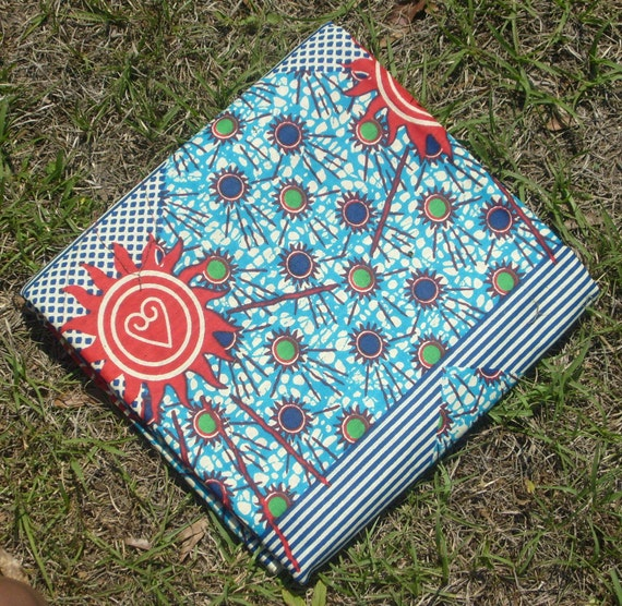 Fabric African Wax Cotton Print - Sunny Sankofa - Half Yard