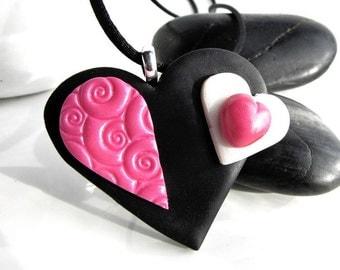 Valentine Simmetry,  Pink minimal Pendant