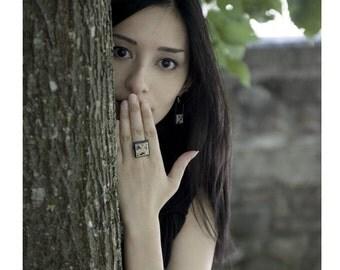 Fuyu, Japanese Chiyogami Adjustable Ring * SALE * Stock Clearance