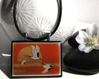 Sunset, The flight of the cranes * SALES * STOCK CLEARANCE