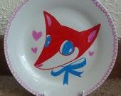Little Boy Fox Plate