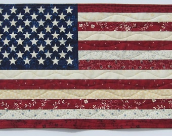 American Flag Patriotic Wall Quilt  21 1/2 x 14 1/2