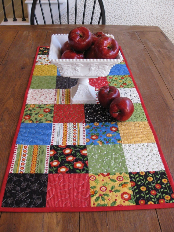 The Caroler by Mary Engelbreit for Moda Table Runner