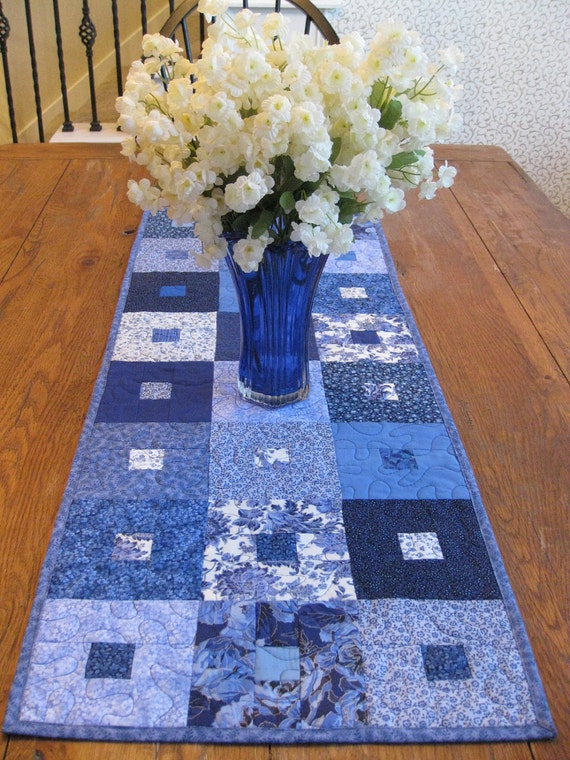 Shades of Blue Table Runner