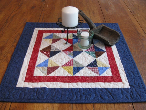 Triangles, Squares, Strips and Scraps Table Topper