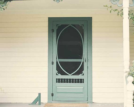 Country Screen Doors : Items similar to screen door photo country farmhouse