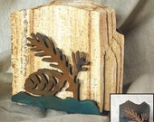 Natural Sandstone Coasters with Pinecone Holder