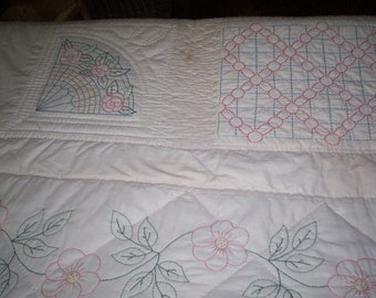 BHG Hand Embroidered Quilt