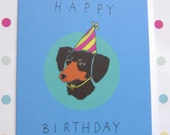Happy Birthday Sausage Dog Card