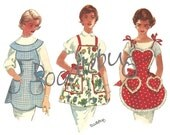 Vintage 1955 Apron Pattern Picture Art Print on Watercolor Paper No. 6