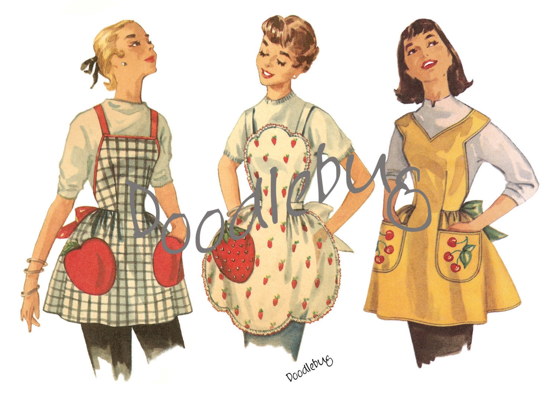 30 Free Vintage Apron Patterns SEWING Pinterest Vintage 10