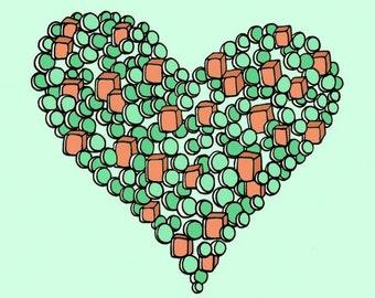 Like Peas and Carrots 8x8 Digital Art Print