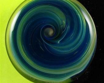 Lampwork Glass Button - 3/4 inch Round