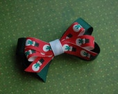 SALE - Stacked Boutique Bow - Snowman - Winter