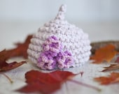 EASY KNITTING PATTERN baby hats  'pixie three flower' - instant download