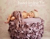 pdf baby knitting patterns ' pixie three flower ' baby hat