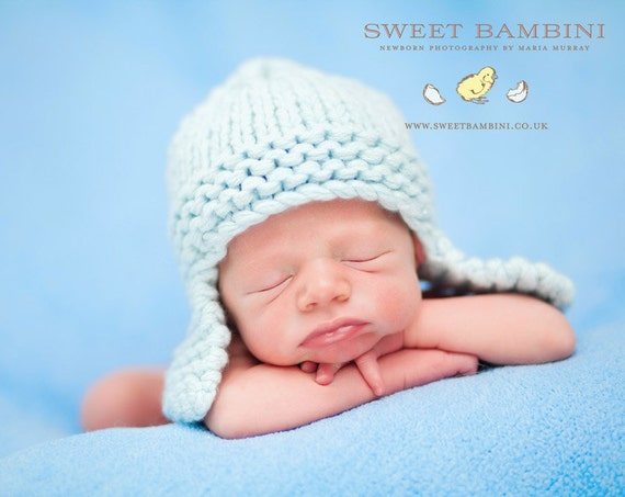 Knitting Pattern For Baby Pilot Hat : KNITTING PATTERN baby boy hats snuggler by rocketclothing
