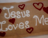 Jesus Loves Me inspirational pillow