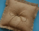 Burlap Ring Bearer Pillow to Let Your Rings Shine