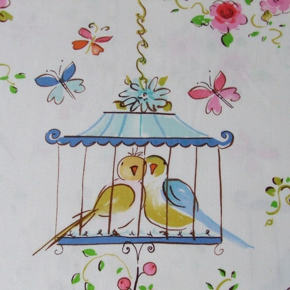 Dena Designs Leanika Lovebirds and Butterflies 1 yard