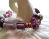 Little Girl's Stretch Bracelet - Plum Pudding