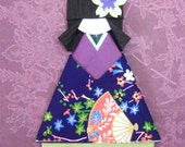 Japanese origami paper doll Tomoko