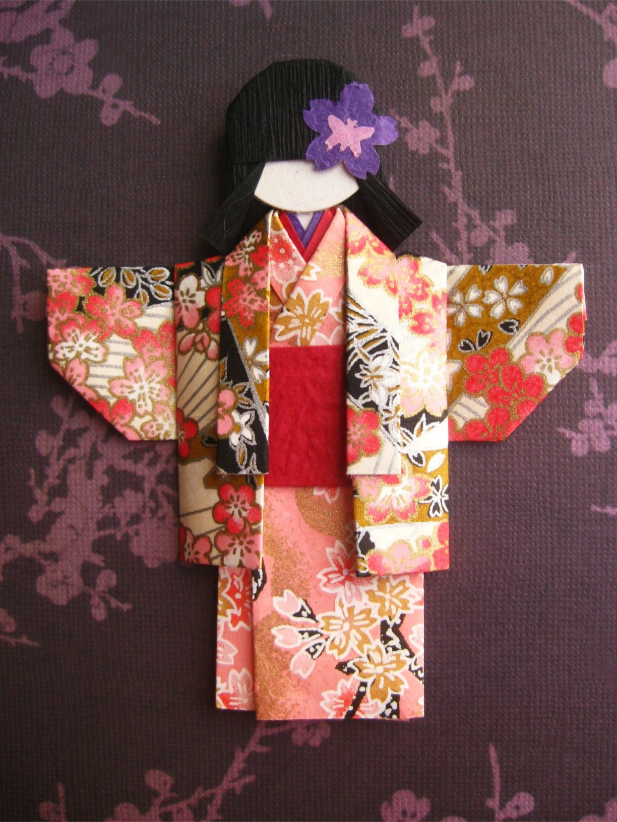 Japanese Chiyogami Paper Doll Hitomi