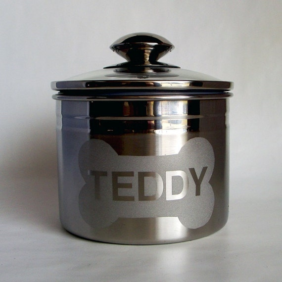 Personalized Dog Treat Jar With Name