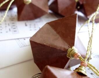 Chocolate Fleur - Set of Three Ornaments