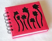 Sewing notebook with felt cover, sewing machine stitch journal, 50 pages - MisterPenQuin