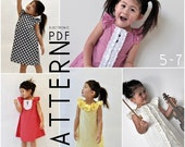 5, 6, 7 - The Charissa Dress - Downloadable PDF Pattern and Instructions