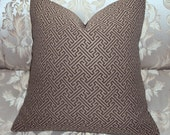 CLEARANCE - 18x18 Indoor Outdoor Brown Maze Fabric Pillow Cover - Free Shipping
