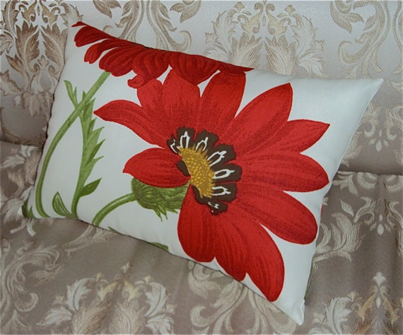 20x14 Indoor Outdoor Pottery Barn Floral Fabric Pillow Cover
