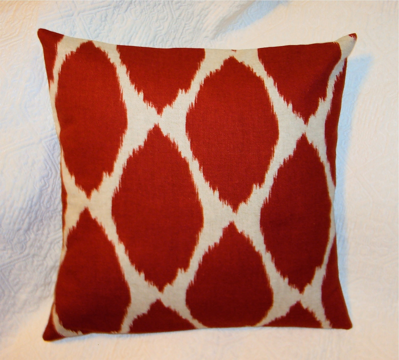mod west elm red ikat fabric pillow cover. Black Bedroom Furniture Sets. Home Design Ideas