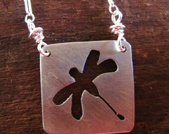 mini dragonfly necklace