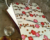 RINGLET JOTTER MEMO PAD JAPANESE PAPER CHERRY BRANCH PINK BLOSSOMS